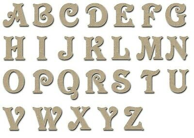 Letters Unfinished Wood MDF Unpainted DIY Crafts Variety of Sizes Made In USA