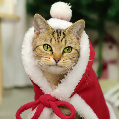 Pet Dog Christmas Costumes Puppy Cat Clothes Sweater Coat Hoodie Apparel Warm