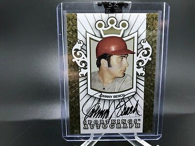 2007 Leaf Sport Kings Johnny Bench Auto Gold SP Reds