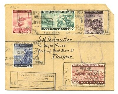 Poland -Polish Army Ww Ii In England -1944 Reg Cv To Tangier Censor F/vf Rare !!