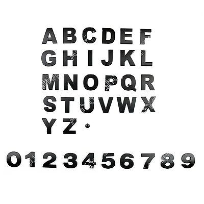 English Letter A-Z Number 0-9 Car Sticker Self Adhesive Auto Badge Emblem 45mm