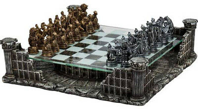 """CHH Roman Gladiators Chess Board Complex Strategy Game Set King 3"""" Tall NEW"""