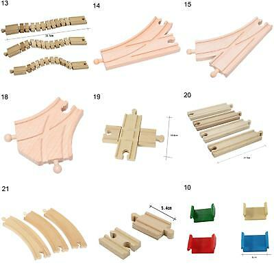 Wooden Train Track Connectors Adapters Expansion Railway Accessories Kids Toy Ki