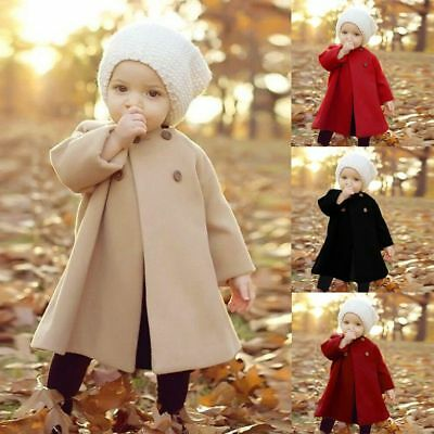 Fall /Winter Girl Jacket Outwear Clothes Newborn Infant Baby Kid Outerwear Coat