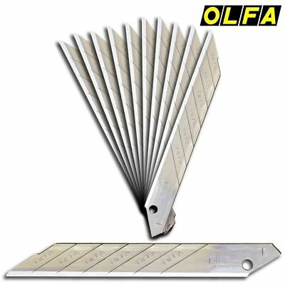 Lot de 10 Paquet Olfa Son 30° Lame Rechange 30 Degrés 9mm - Coupeur Sab 10