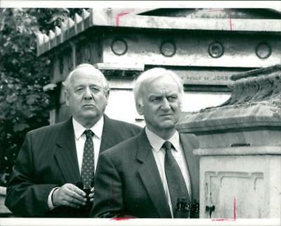 John Thaw and James Grout. - Vintage photo