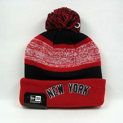 New Era MLB New York Yankees Snowfall Stripe Bobble Hat rrp£20