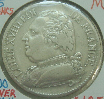 1814-M - France - 5 Francs - Silver Coin - KM#702.9 Wonderful Coin