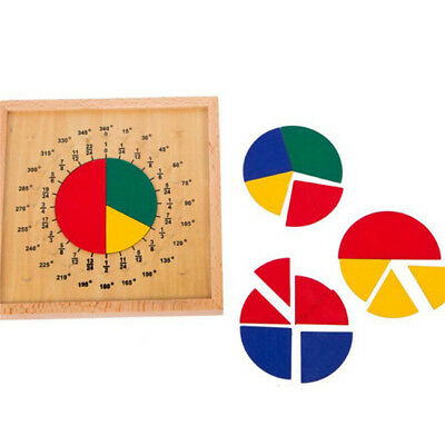 Circular Mathematics Fraction Division Teaching Aids Montessori Math Toys Baby Z