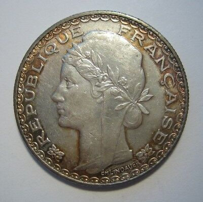 1931 French Indo-China Silver 1 Piastre