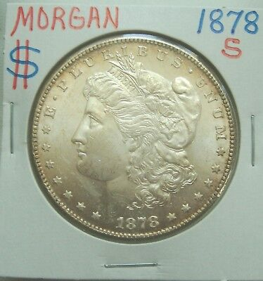 1878S Morgan Silver Dollar- Absolutely Gorgeous Coin