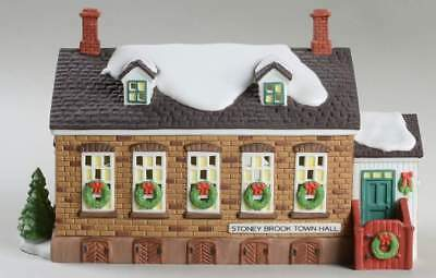 Retired Dept 56 New England Village - Stoney Brook Town Hall - New in Box