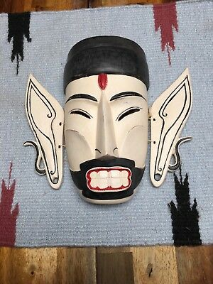 Old Asian Face Mask With Moveable Ears