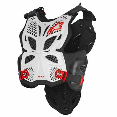 Alpinestars A-10 White black red Chest Protector- Free shipping