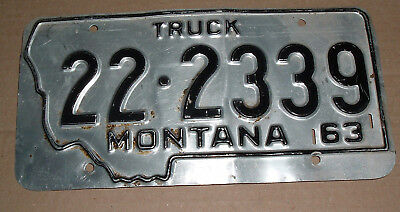 1963 Montana Truck License Plate Tag 22-2339