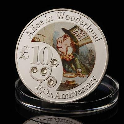 Cartoon character hatter silver coin color commemorative coin metal crafts