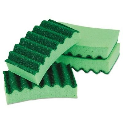 Quickie Manufacturing 4.2x2.5x0.9 in. Durable Scrub Sponges Green - 4 per Pack