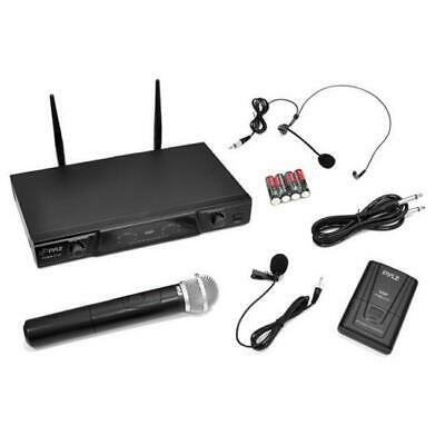 PylePro PDWM2115 Very High Frequency Wireless Microphone Receiver System with...