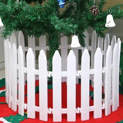 5x White Plastic Picket Fence Miniature Garden Christmas Xmas Tree Decor Healthy