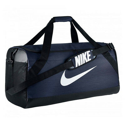 NIKE BRASILIA MEDIUM Duffel Bag Unisex BA5334-410 Navy Blue Training ... 0ae98ac26af2