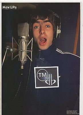 (-0-)  Liam Gallagher Oasis Studio Photo A4 Poster Advert Cutting  #05