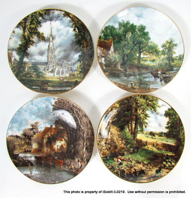 Lot 4 Crown Staffordshire Bone China Collector Plates John Constable