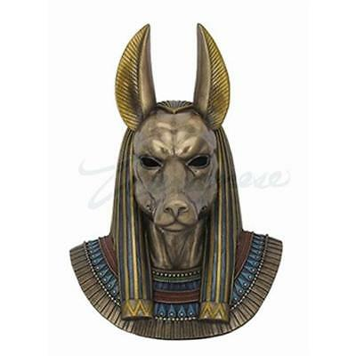 Unicorn Studios Bust of Egyptian Jackal God Anubis Wall Sculpture - Bronze