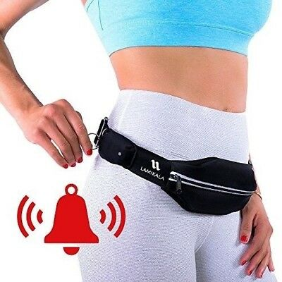 Lamikala Running Belt with Personal Alarm for Runners Safety Including Flexible
