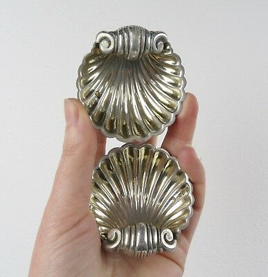 Chester England Deakin 1896 sterling silver clam dish pair