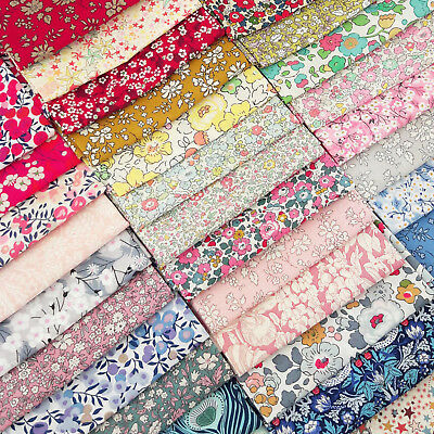 Liberty Fabric Scrap Pack / quilting patchwork charm bundle tana lawn floral