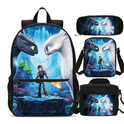 How to Train Your Dragon Backpack Insulated Lunch Bag Pen Case Shoulder Bags Lot