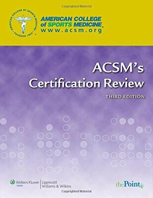 ACSM's Certification Review by American College of Sports Medicine Paperback The