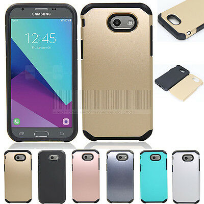 Shockproof Armor Case Hybrid Rubber Cover For Samsung Galaxy J3 Emerge / J3 2017