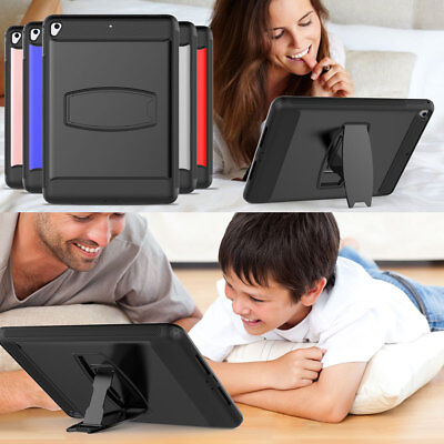 For iPad 9.7 2018 5th 6th Gen Tablet Bumper Stand Screen Protector Case Cover