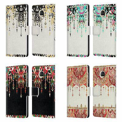 Micklyn Le Feuvre Modern Deco Leather Book Wallet Case Cover For Motorola Phones