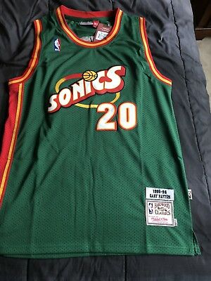 34d9df937e25 ... coupon for mitchell ness gary payton seattle sonics jersey size large  fast free shipping b972b 8cf2b