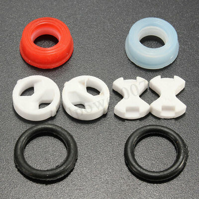 Set of Replacement ceramic disc silicon washer insert turn 1/2'' for valve