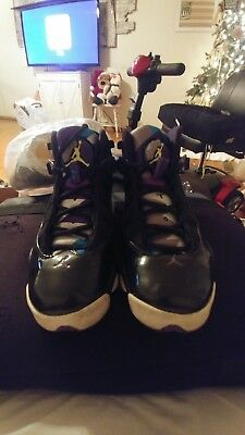 Boys Yth Sz 5y Black/Aqua AIR JORDAN 6 RINGS GS ATHLETIC SHOES EUC (323419-001)