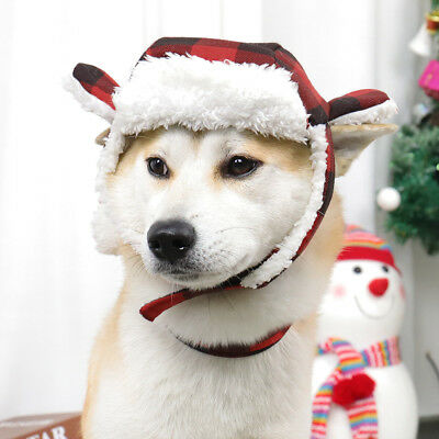 Pet Dog Christmas Costumes Puppy Cat Clothes Hat Scarf Warm Christmas Hat