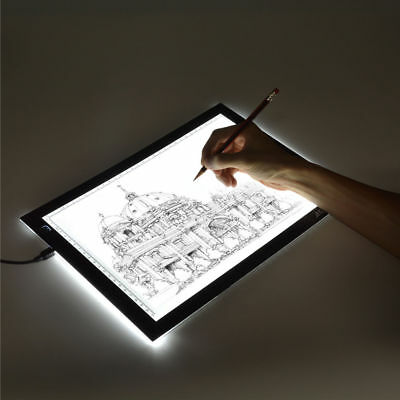 A4 LED Drawing Board Artcraft Tracing Light Pad Box Artist Tattoo Display S/M/L