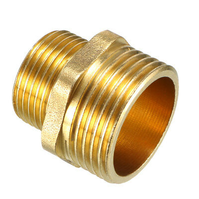 Brass Pipe Fitting, Reducing Hex Nipple, 1 PT Male x 3/4 PT Male Adapter