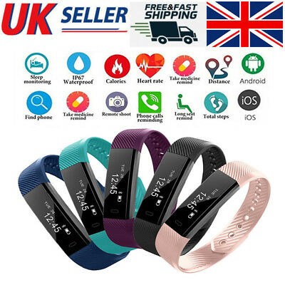 ID115 Fitness Smart Watch Activity Tracker Women Men Kid Fit*bit For Android iOS