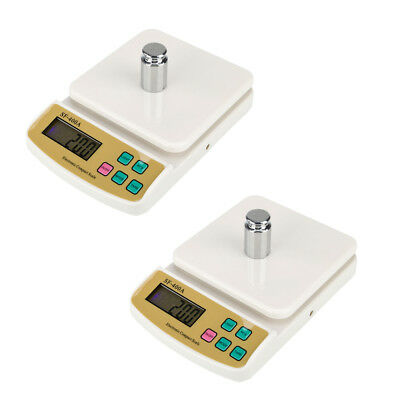 2* 10kg/1g 22lb Digital Electronic Kitchen Food Diet Postal Scale Weight Balance