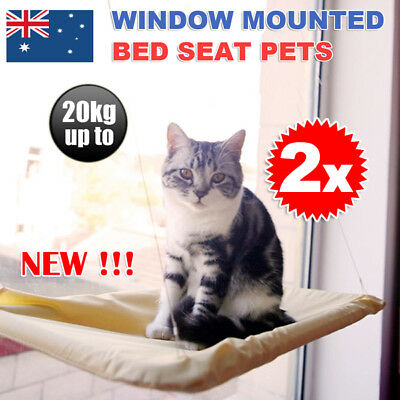 2X Washable Cat Window Mounted bed Seat Pets Sunny Cats Hammock Cover