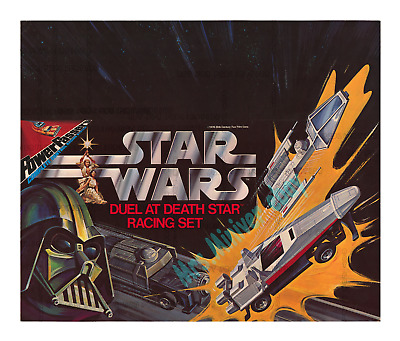 Star Wars ☆ Duel At Death Star ☆ Kenner Toy ☆ 1978 Store Display ☆ Movie Poster