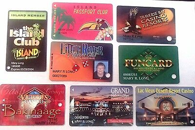 Accumulation Of 8 Various Different Casino Players Club Cards  #1