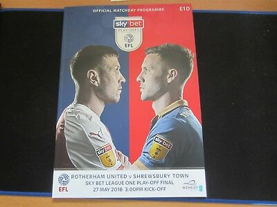 2017-18  LEAGUE ONE PLAY-OFF FINAL ROTHERHAM UNITED v SHREWSBURY TOWN