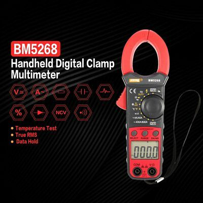 BM5268 Digital Clamp Meter Multimeter True RMS AC/DC Volt Amp Ohm Diode Tester h