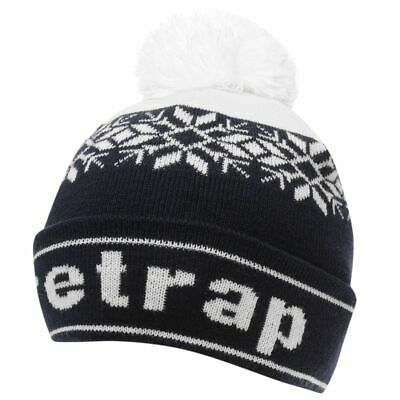 Firetrap Kids Snow Beanie Juniors Bobble Hat Pattern Warm Stretch Stretchy