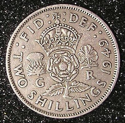1-Coin from Great Britain. Two Shilling.  1949.